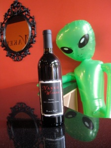 At least one alient is still hanging around for the Naked Winery merlot.